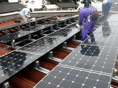 ソーラーパネル敷設工事